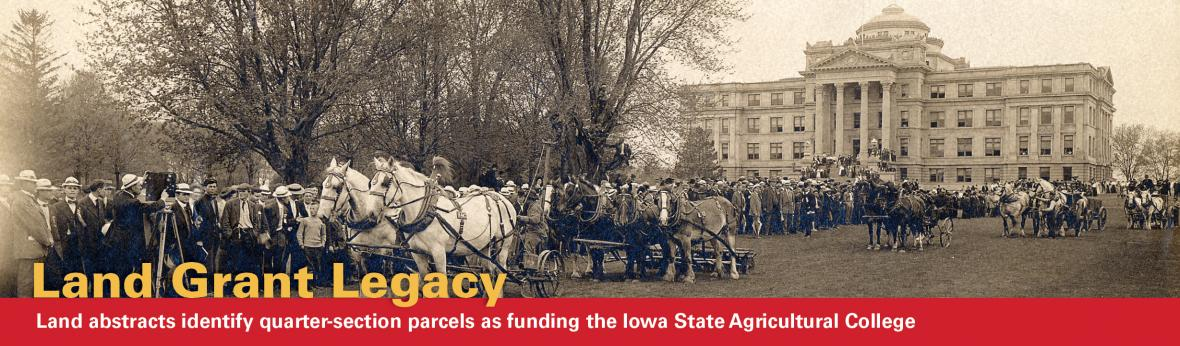 Land abstracts fund Iowa State Agricultural College
